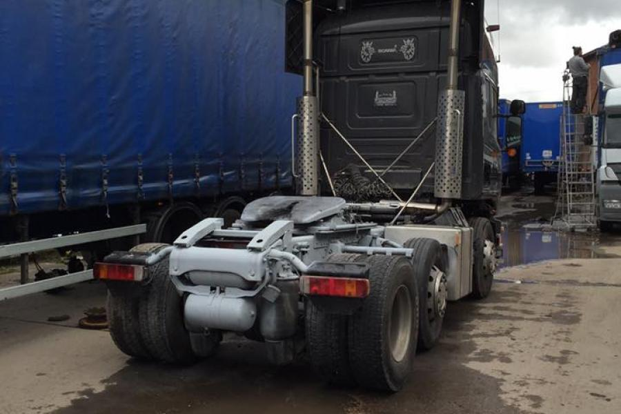 Dustless Blasting commercial trucks and trailers